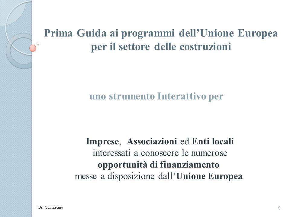 Prima Guida ai programmi dell'Unione Europea