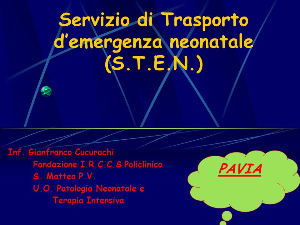 Servizio di Trasporto d'emergenza neonatale (S.T.E.N.)