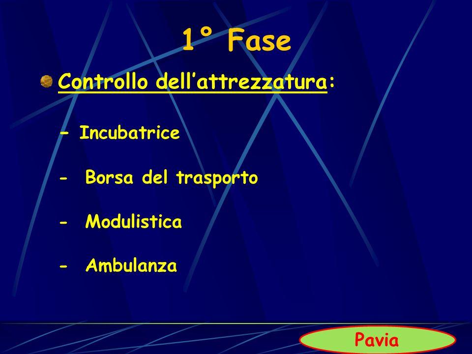 1° Fase Controllo dell'attrezzatura: - Incubatrice