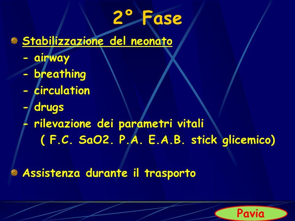 2° Fase Stabilizzazione del neonato - airway - breathing - circulation