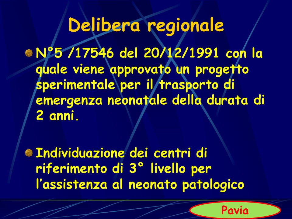 Delibera regionale