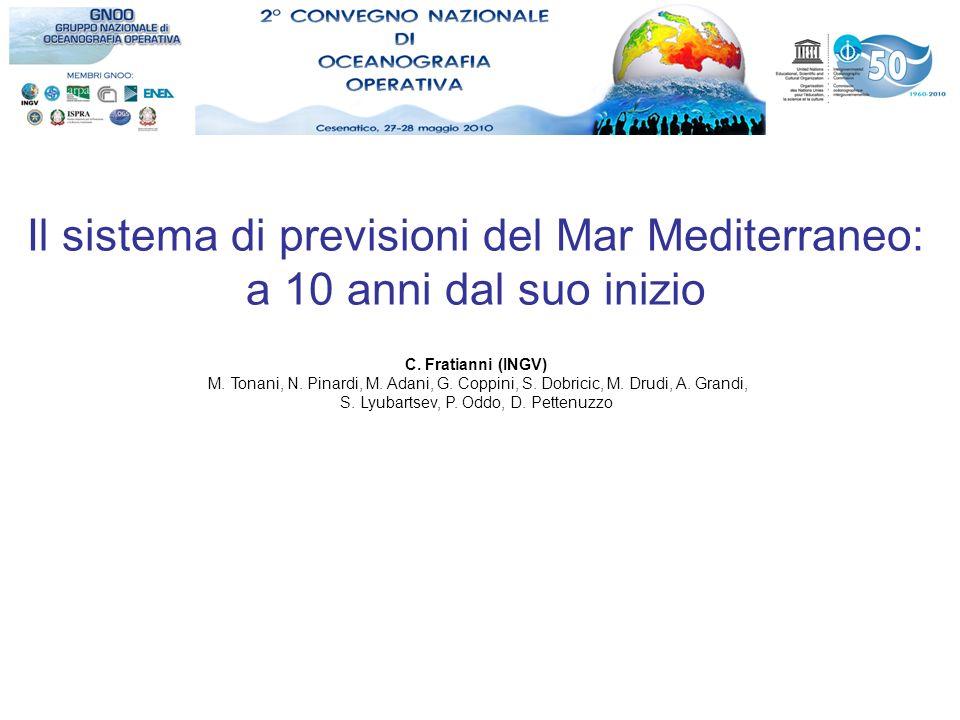 Il sistema di previsioni del Mar Mediterraneo: