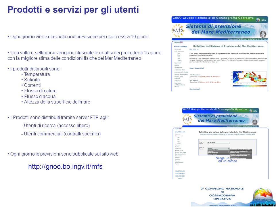 Prodotti e servizi per gli utenti