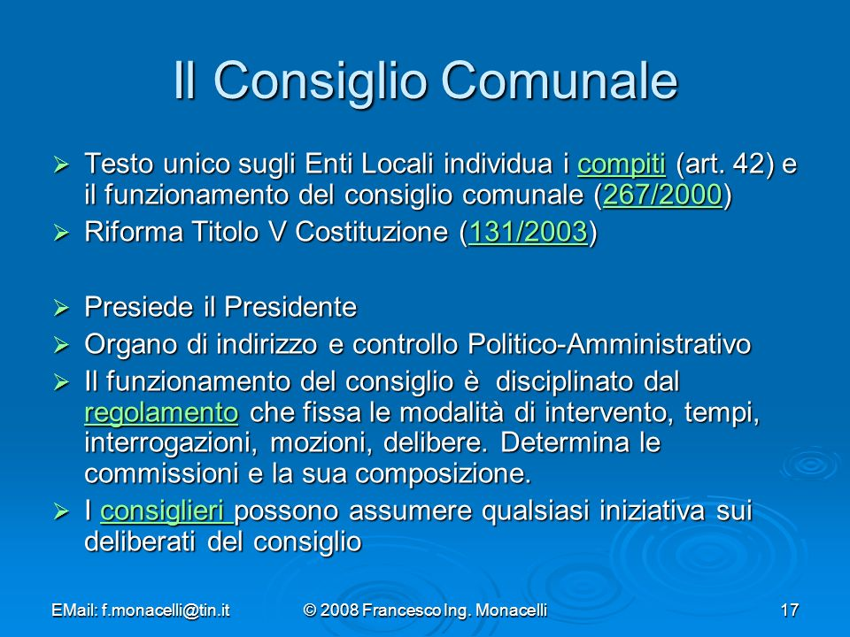 © 2008 Francesco Ing. Monacelli