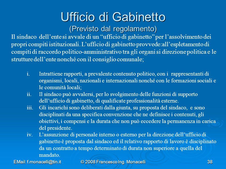 Ufficio di Gabinetto (Previsto dal regolamento)