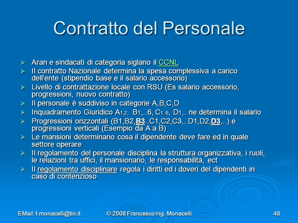 Contratto del Personale