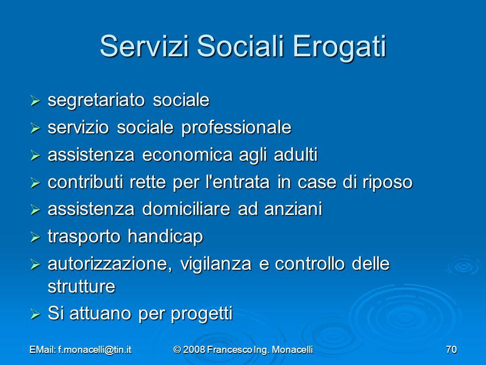 Servizi Sociali Erogati