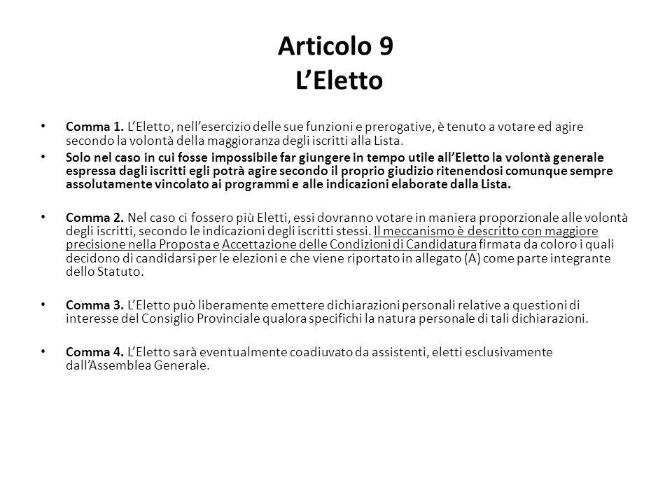 Articolo 9 L'Eletto