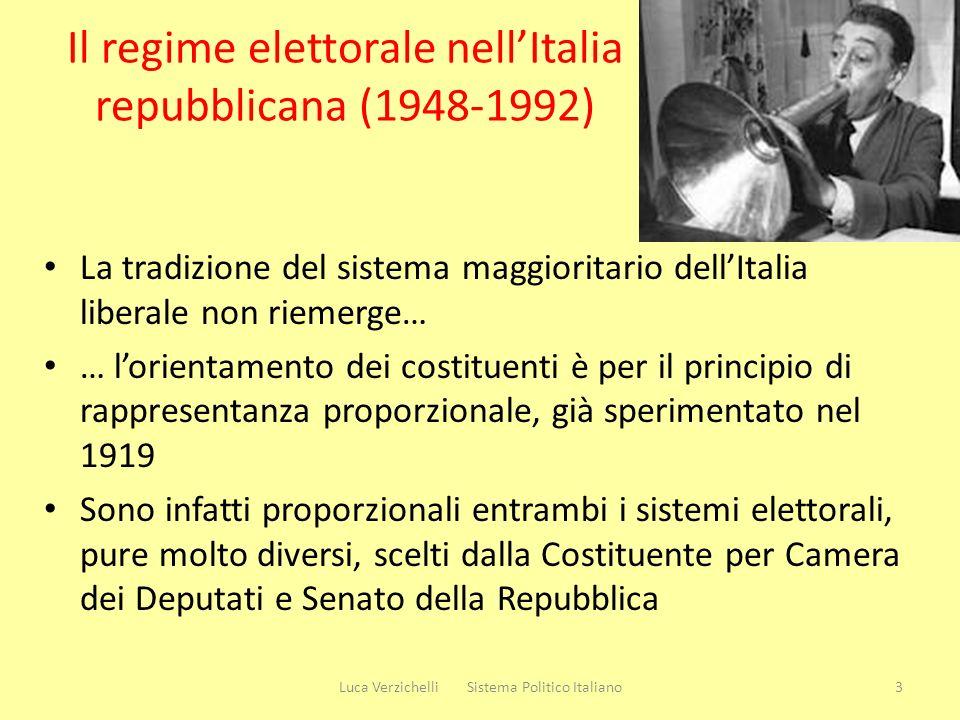 Il regime elettorale nell'Italia repubblicana (1948-1992)