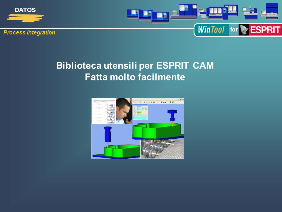 Biblioteca utensili per ESPRIT CAM Fatta molto facilmente