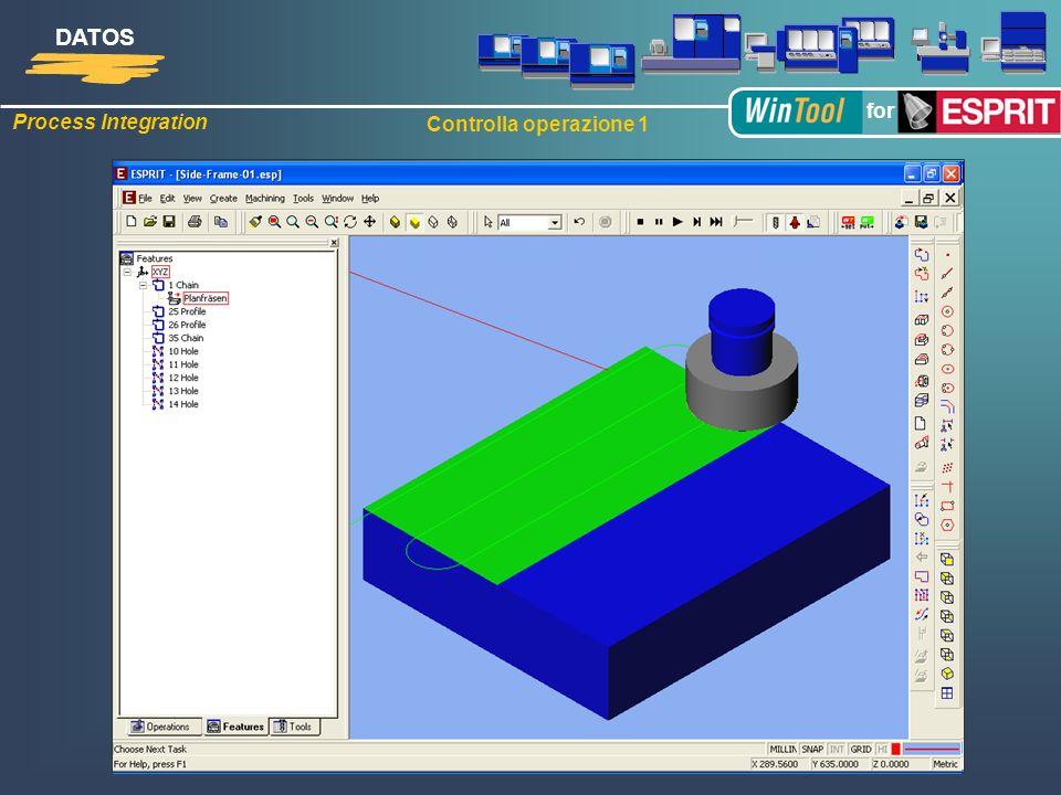 1:1 Simulazione del utensile assemblato