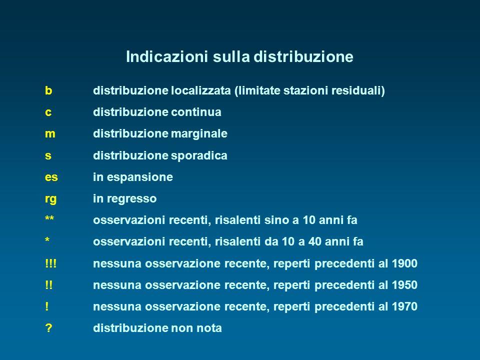Indicazioni sulla distribuzione