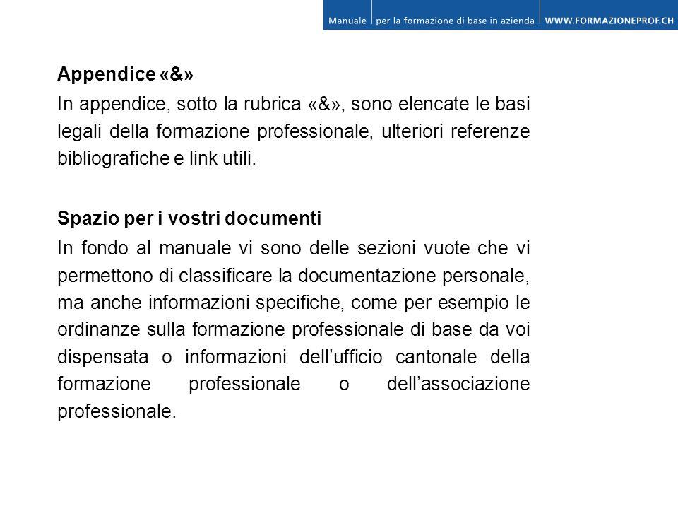 Appendice «&»