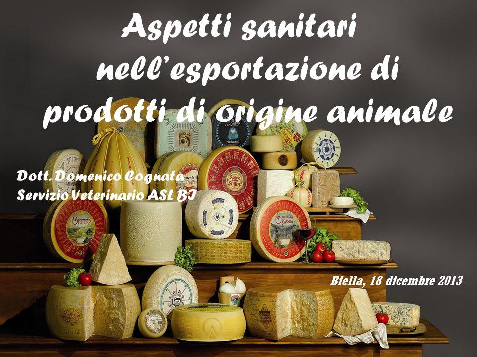Aspetti sanitari nell'esportazione di prodotti di origine animale