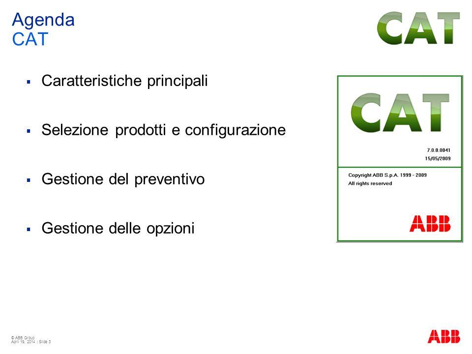 Agenda CAT Caratteristiche principali