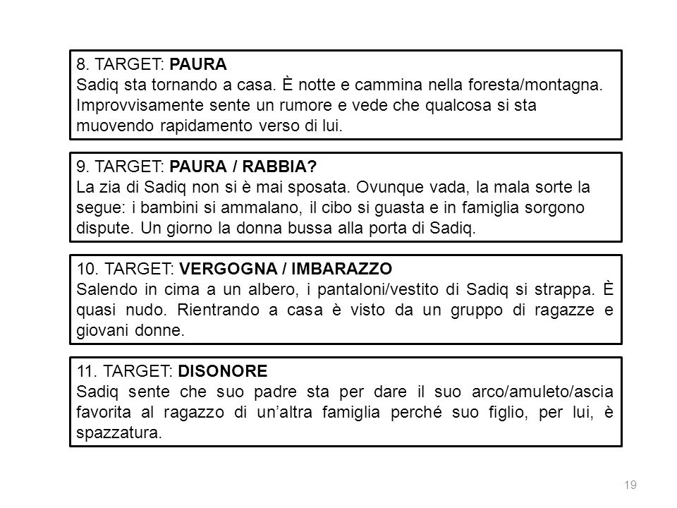 8. TARGET: PAURA