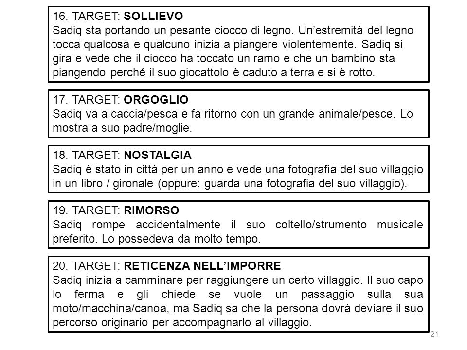 16. TARGET: SOLLIEVO