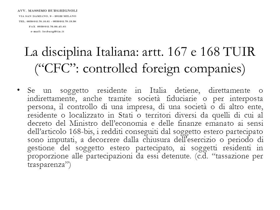 La disciplina Italiana: artt