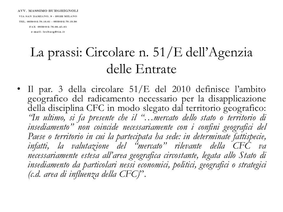 La prassi: Circolare n. 51/E dell'Agenzia delle Entrate