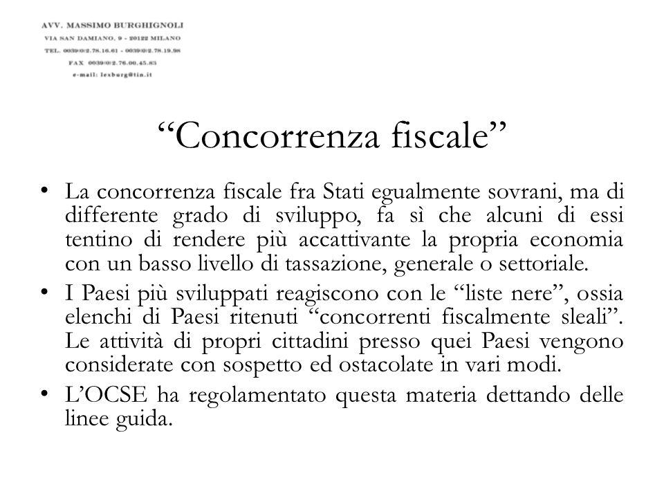 Concorrenza fiscale