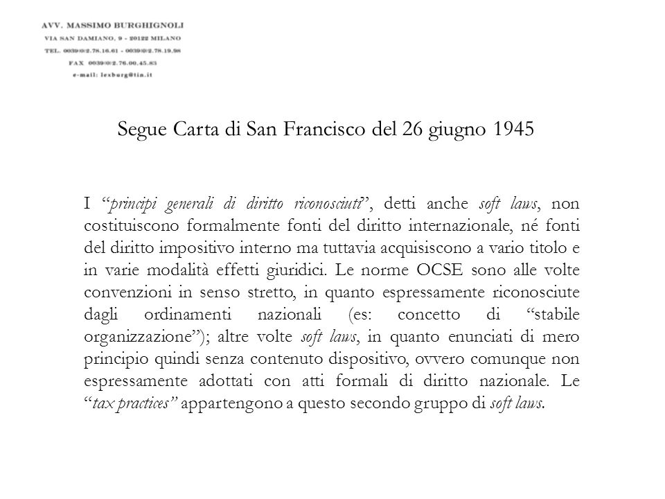 Segue Carta di San Francisco del 26 giugno 1945