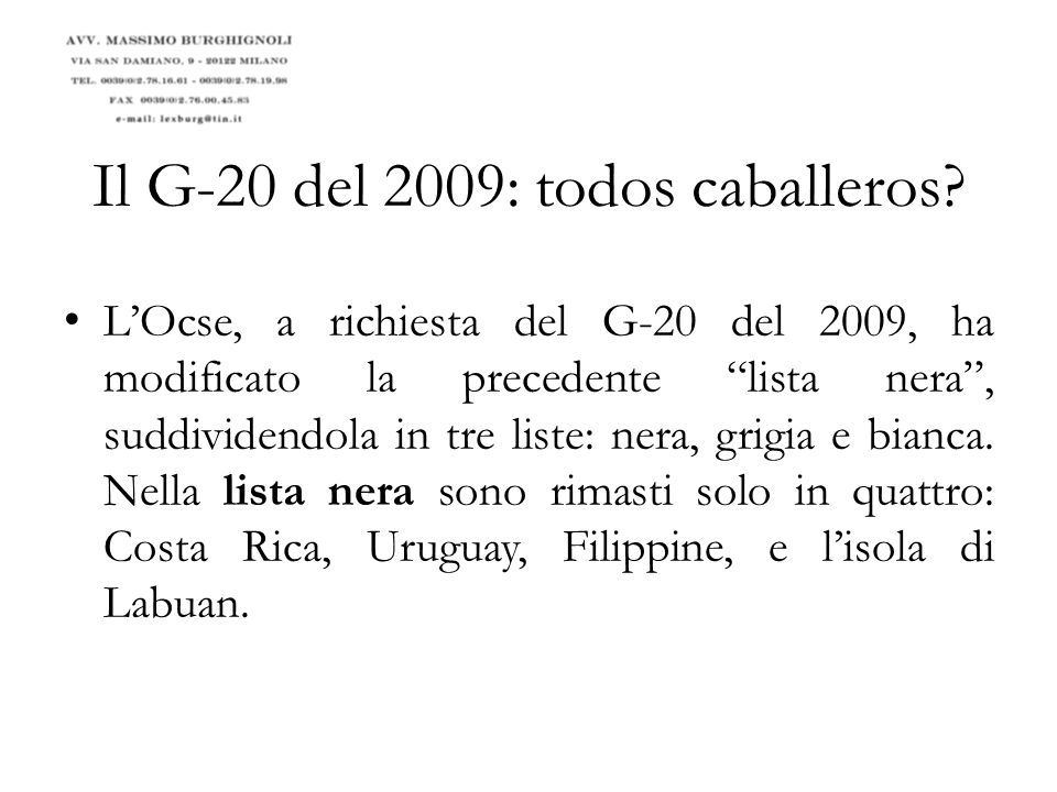 Il G-20 del 2009: todos caballeros