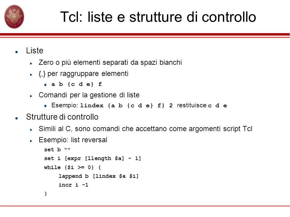 Tcl: liste e strutture di controllo