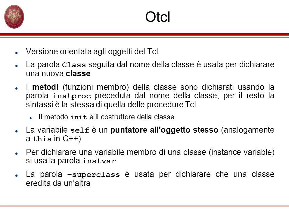 Otcl Versione orientata agli oggetti del Tcl