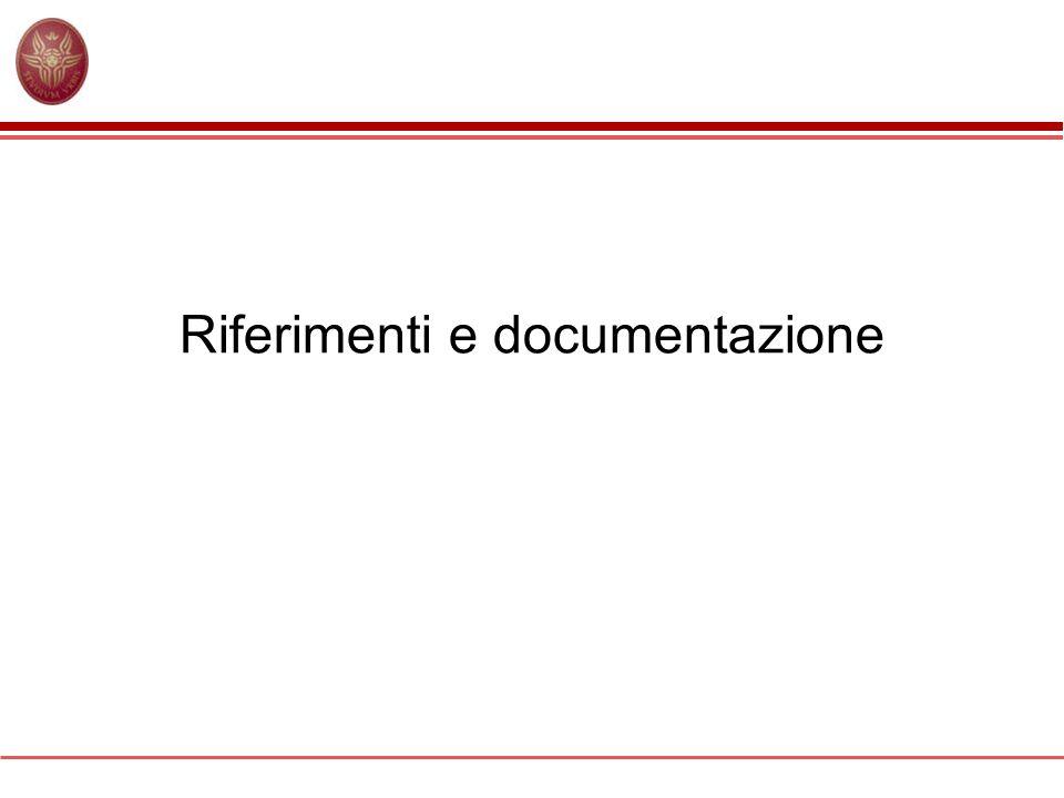 Riferimenti e documentazione