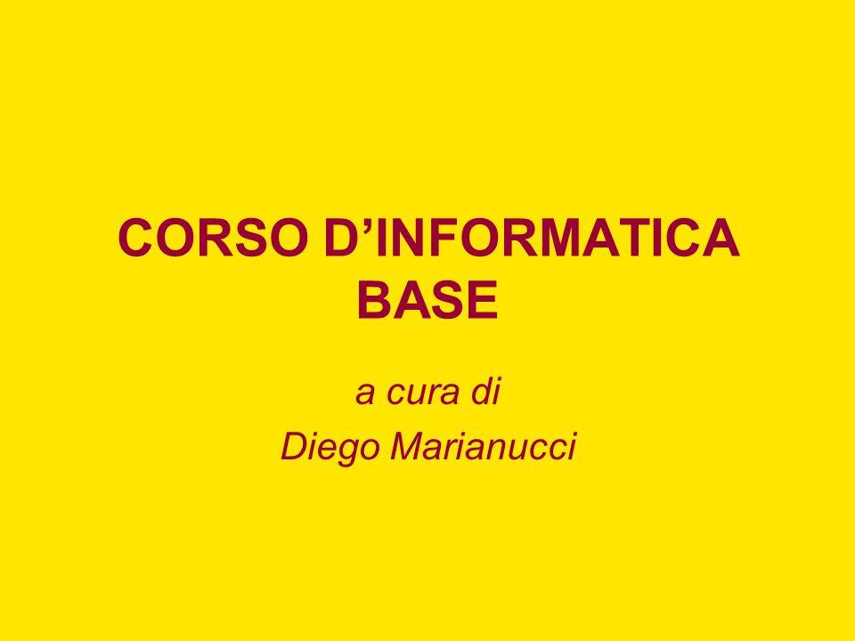 CORSO D'INFORMATICA BASE