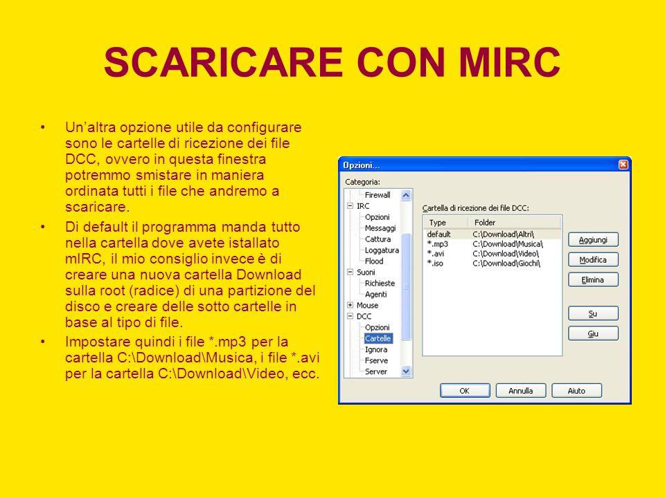 SCARICARE CON MIRC