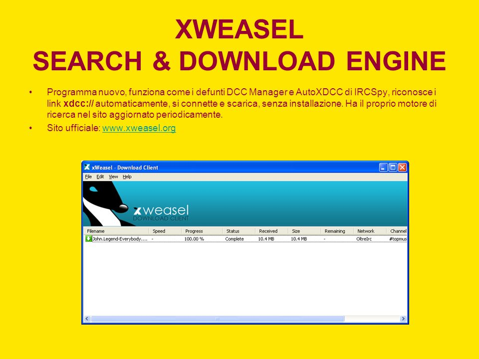 XWEASEL SEARCH & DOWNLOAD ENGINE
