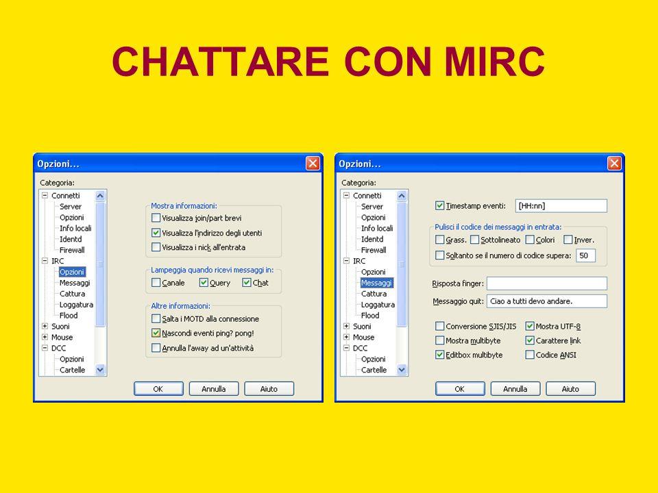 CHATTARE CON MIRC