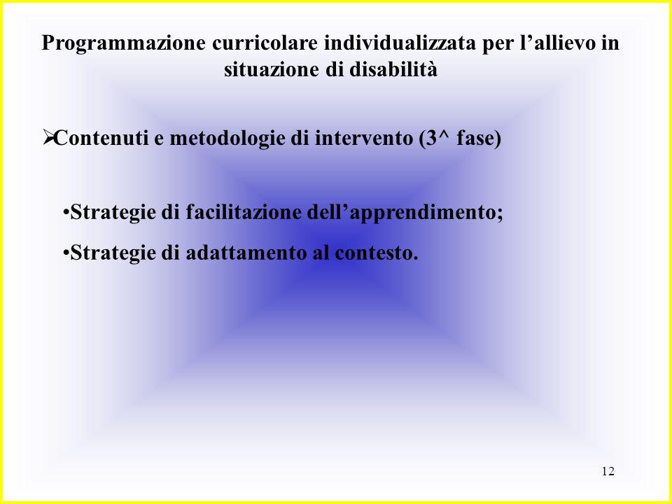 Programmazione curricolare individualizzata per l'allievo in situazione di disabilità