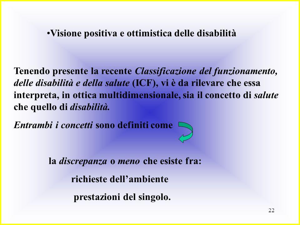 Visione positiva e ottimistica delle disabilità