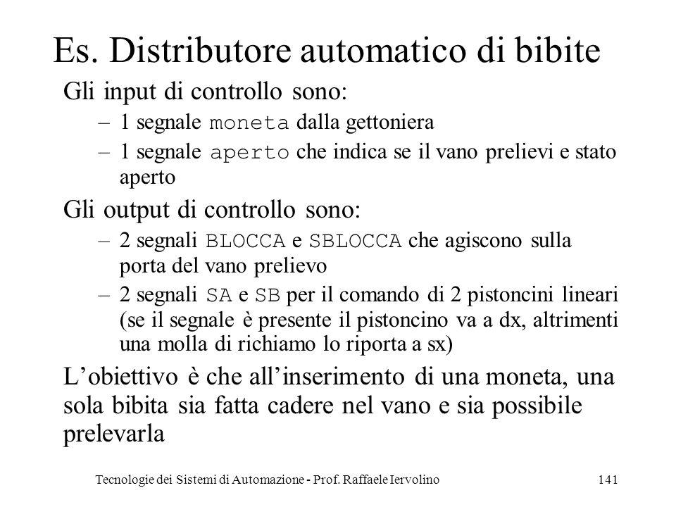 Es. Distributore automatico di bibite