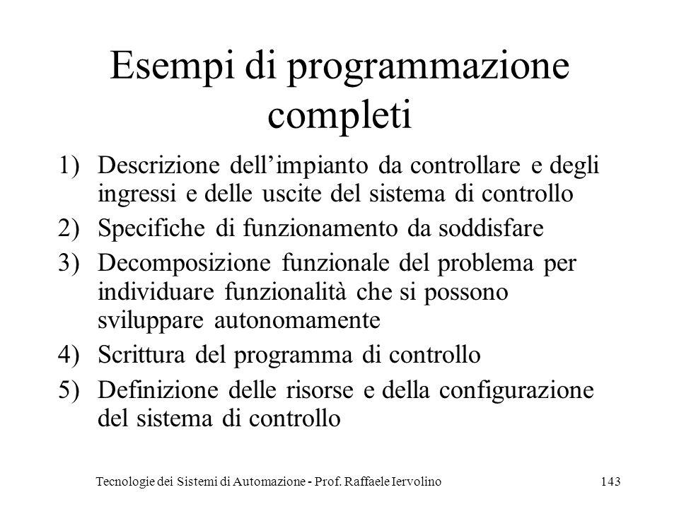 Esempi di programmazione completi