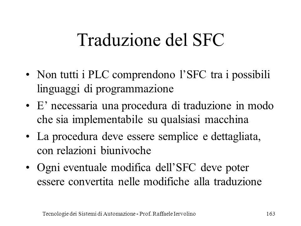 Tecnologie dei Sistemi di Automazione - Prof. Raffaele Iervolino