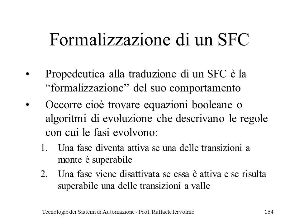 Formalizzazione di un SFC