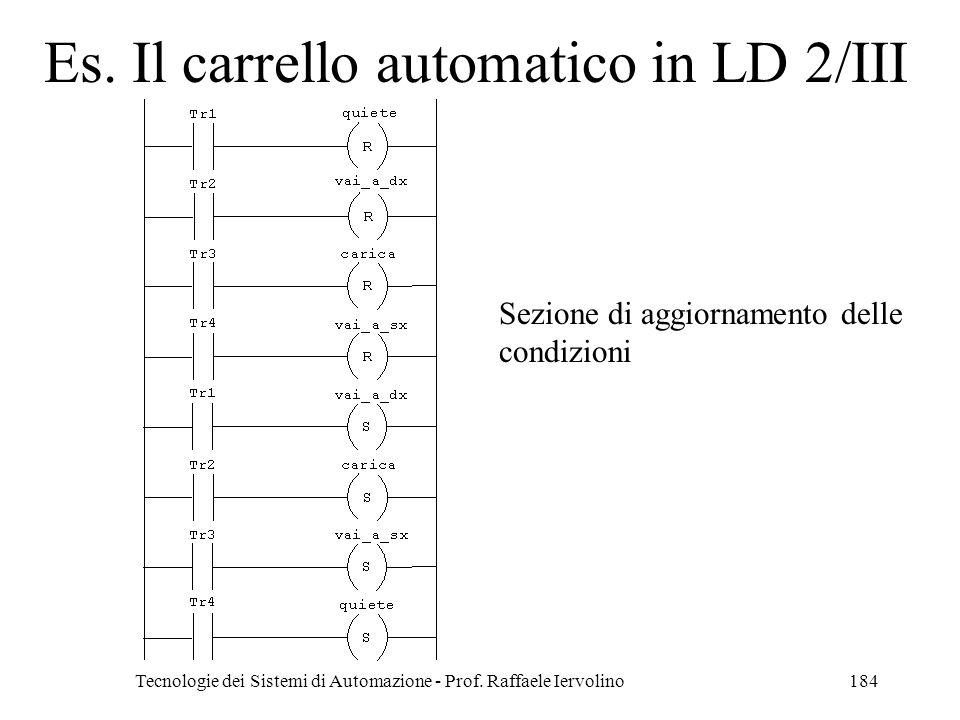 Es. Il carrello automatico in LD 2/III