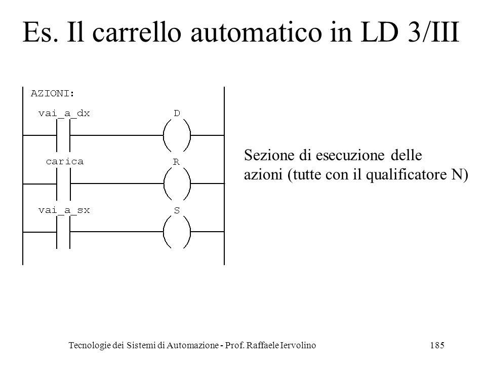 Es. Il carrello automatico in LD 3/III