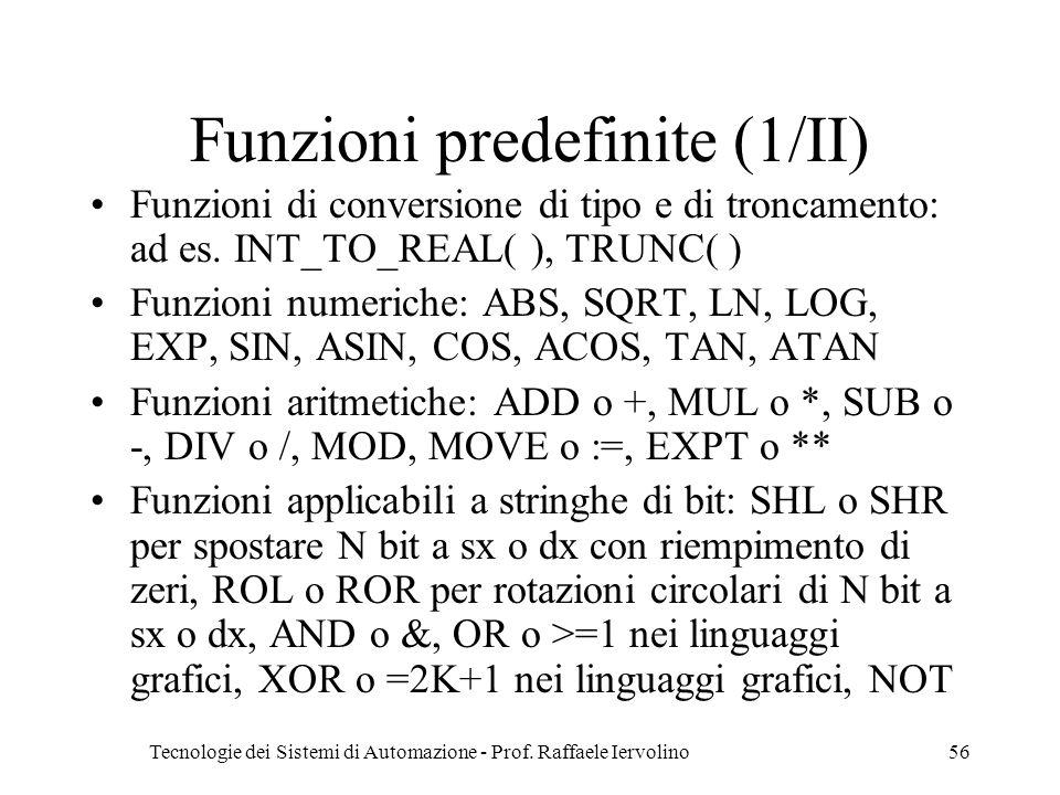 Funzioni predefinite (1/II)