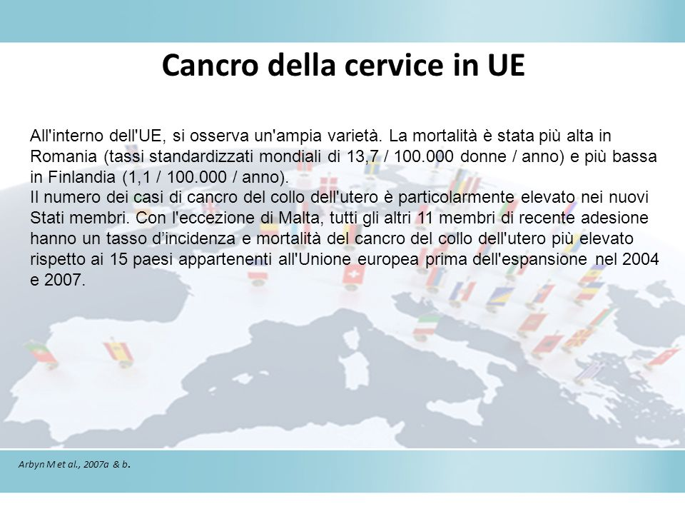 Cancro della cervice in UE