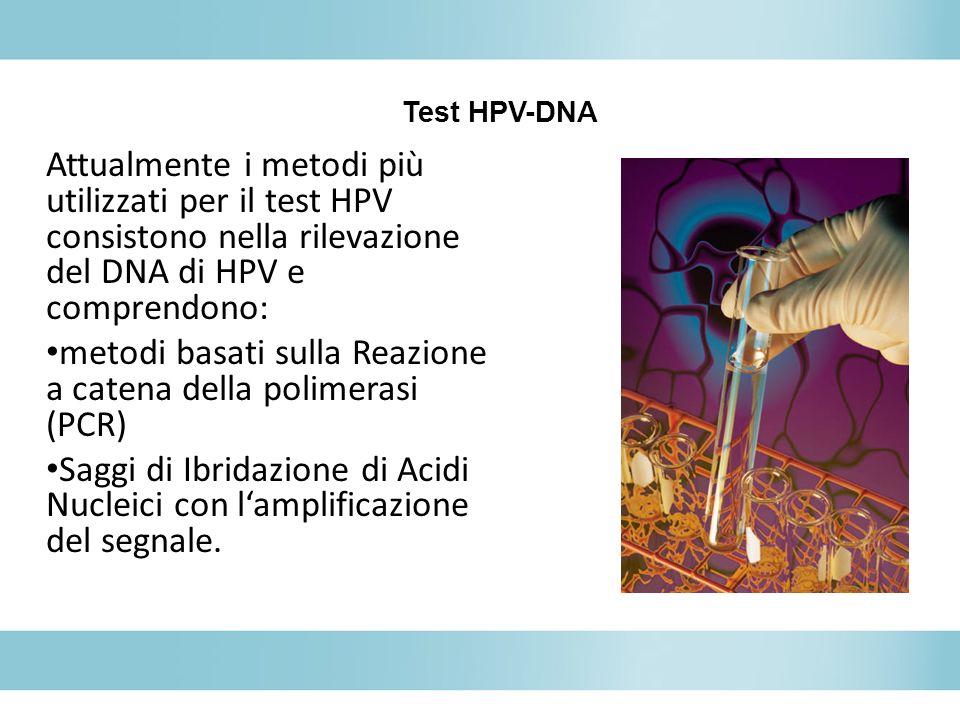 metodi basati sulla Reazione a catena della polimerasi (PCR)