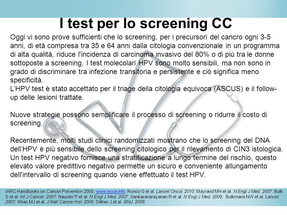 I test per lo screening CC