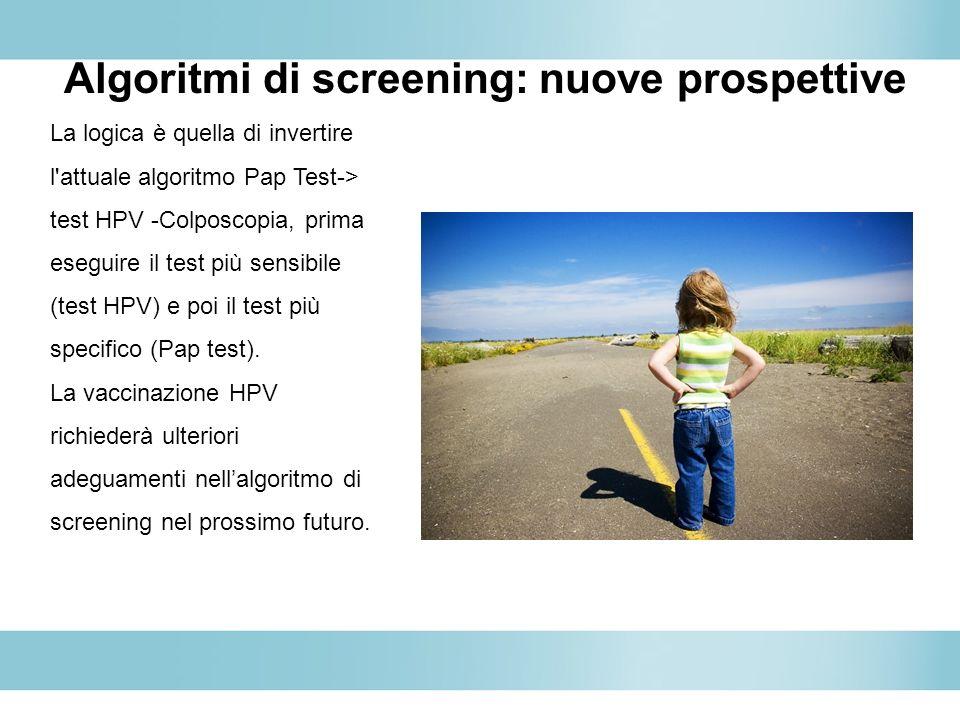 Algoritmi di screening: nuove prospettive