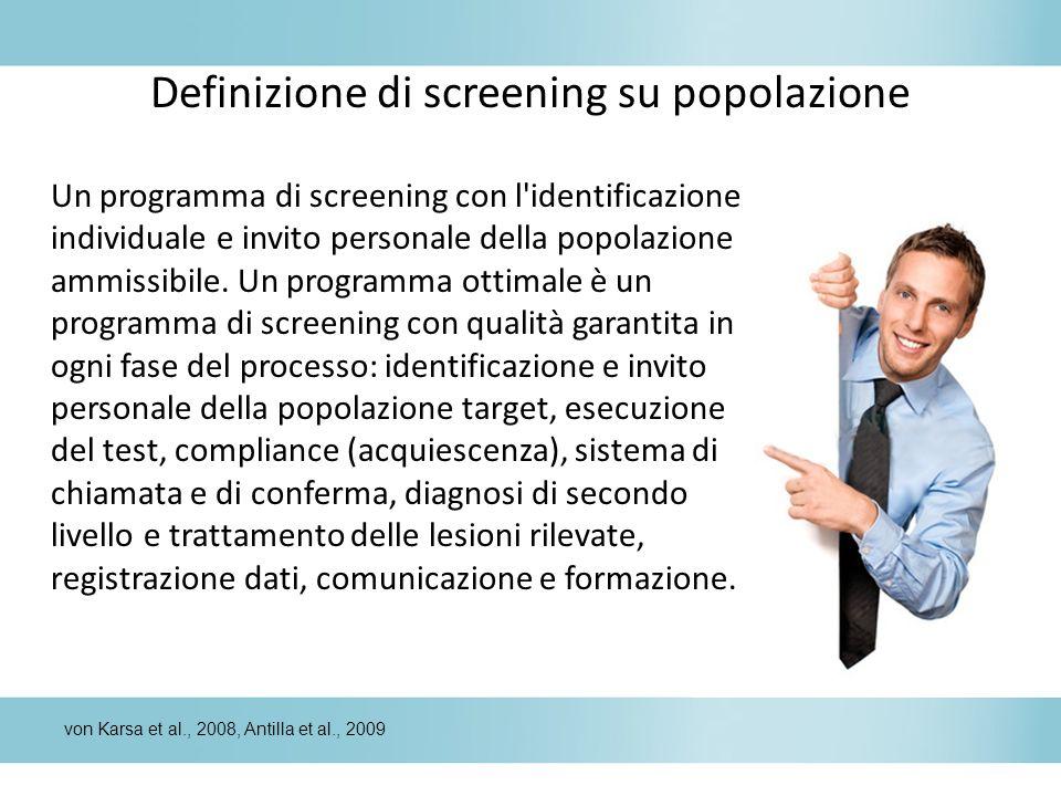 Definizione di screening su popolazione