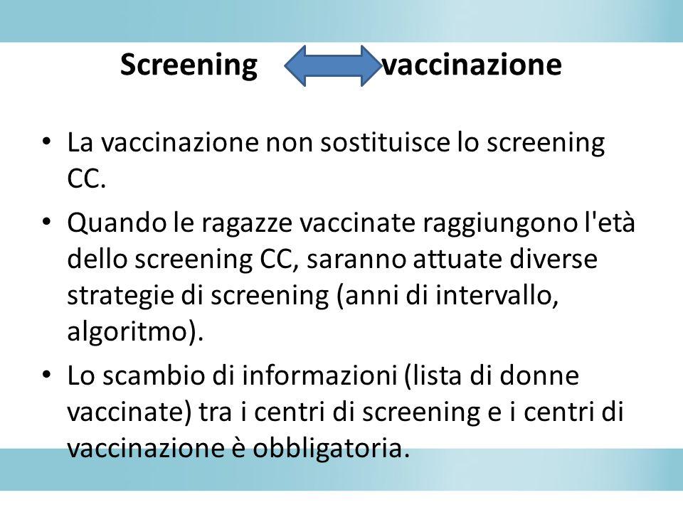 Screening vaccinazione