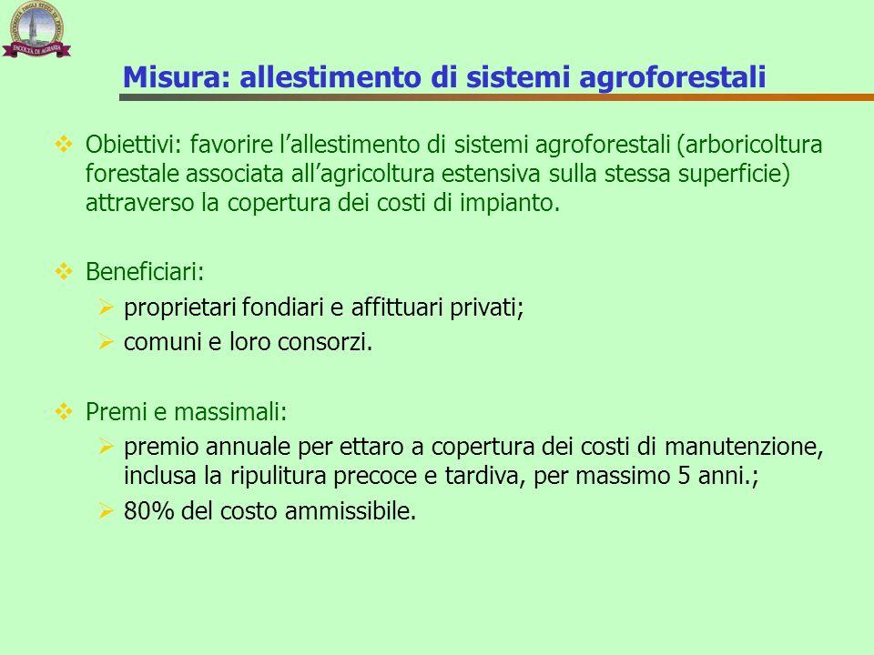 Misura: allestimento di sistemi agroforestali
