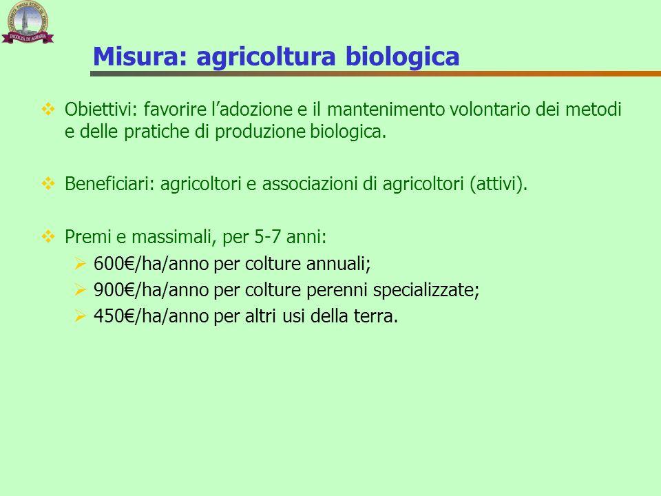 Misura: agricoltura biologica